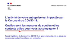 Synthèse des mesures de soutien - Covid 19